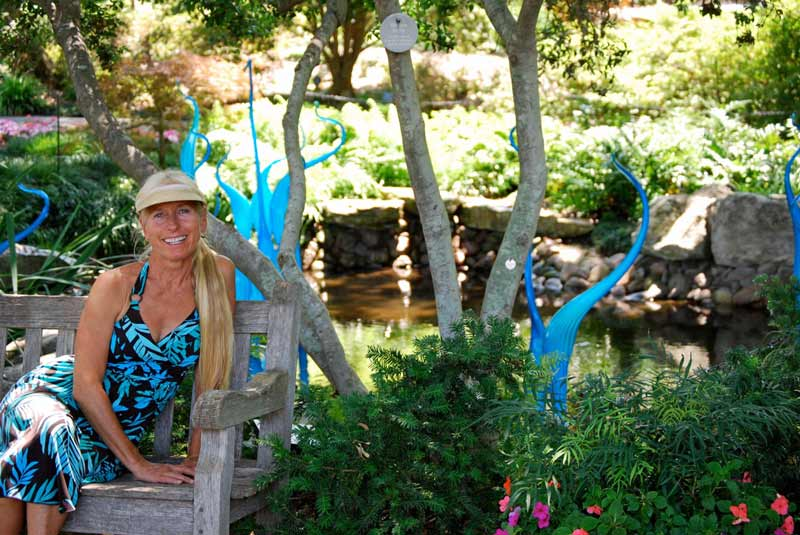 Hawaii stained glass and mosaic designer, Calley O'Neill