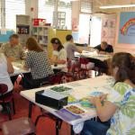 After the students were finished, parents, teachers and staff finished the remaining details on the works of arts.