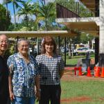 Len Chow, Uncle Herman, and Principal Corrine Yogi