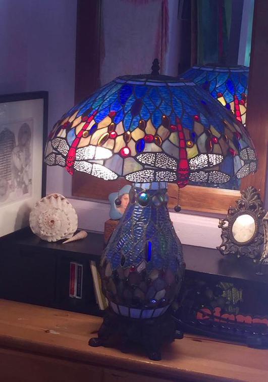 Do you have a family heirloom that you can no longer enjoy because it's broken?  Lamar can restore it!  This lamp was given up for lost until its owner brought it to us for repair.